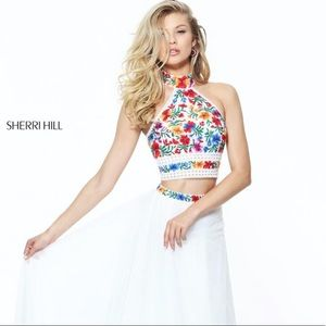 Sherri Hills 2 two Piece Prom 50870 embroidery